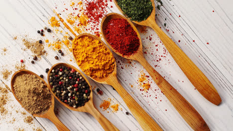 Creative-layout-of-spoons-with-spices