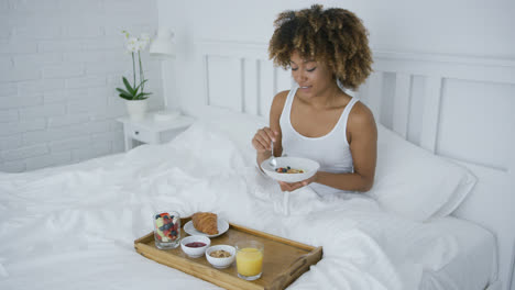 Content-woman-having-breakfast-in-bed
