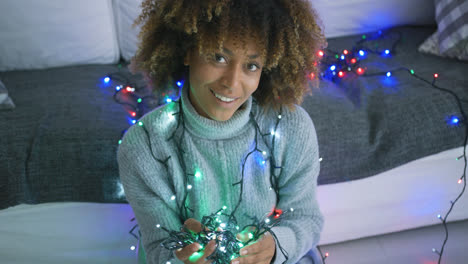 Charming-model-with-twinkle-lights