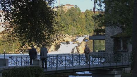 Switzerland-tourists-at-Rhine-Falls