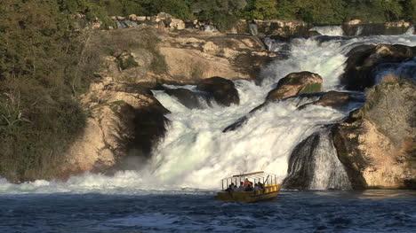 Switzerland-excursion-boat-Rhine-Falls