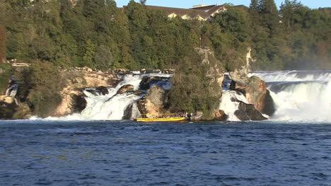 Switzerland-Rhine-Falls-tourist-boat