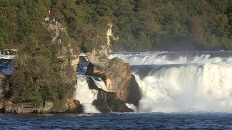 Switzerland-Rhine-Falls-with-rocks