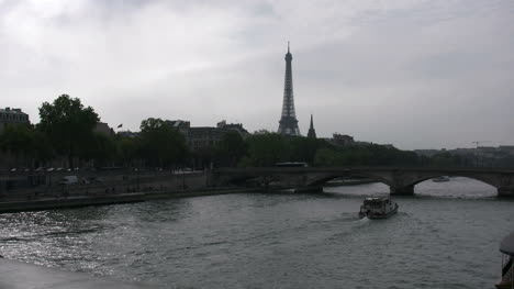 Paris-Eiffel-Tower-from-Paris-Pont-Alexandre-III-with-boat-on-river