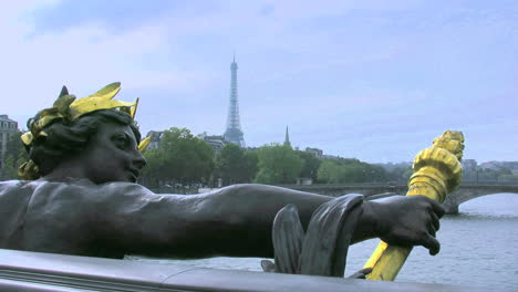 Paris-Eiffel-Tower-from-statue-with-gold-crown-on-Pont-Alexandre-III