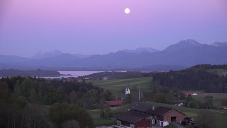 Germany-full-moon-over-village