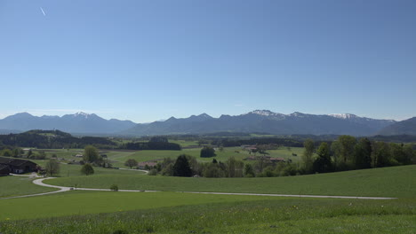 Germany-view-of-Alps-in-morning-from-Rimsting