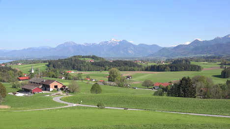 Germany-view-toward-the-Alps-from-Rimsting-zoom-out