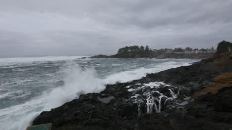Oregon-Depoe-Bahía-Escupir-Cuerno-Vista