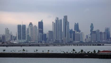 Panama-causeway-with-city-skyline-beyond