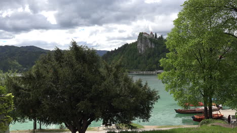 Slovenia-Lake-Bled-and-castle-on-rock