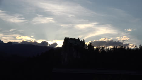 Slovenia-castle-and-clouds-near-sunset-time-lapse