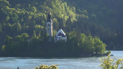 Slovenia-church-on-lake-island-in-Bled