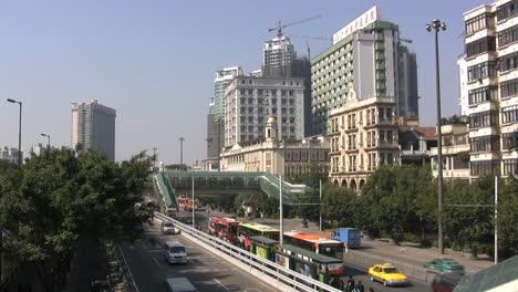 Edificios-Y-Tráfico-De-Guangzhou-China