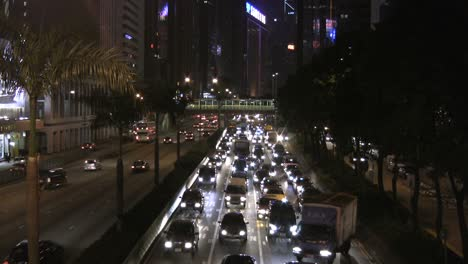 Hong-Kong-night-traffic