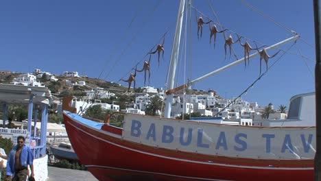 Mykonos-octopus-drying-on-boat