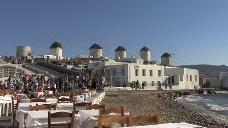 Mykonos-cafe-and-windmills