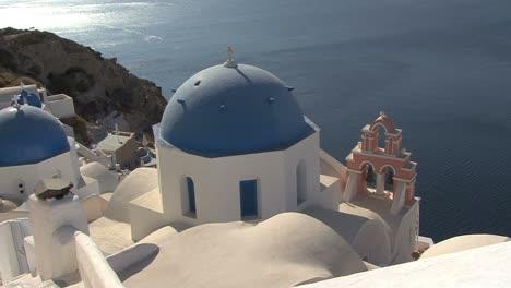 Santorini-blue-domed-church-in-Oia