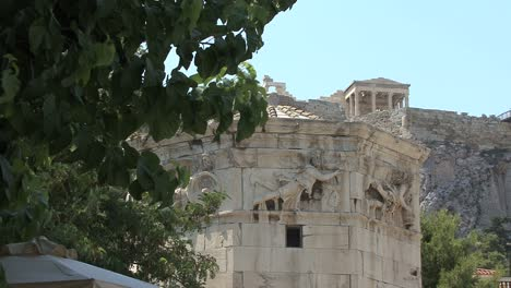 Athens-Tower-of-the-Winds-and-acropolis