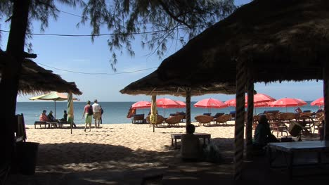 Cambodia-a-beach-with-umbrellas