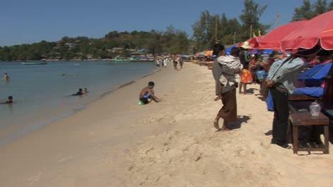 Cambodian-woman-on-a-beach