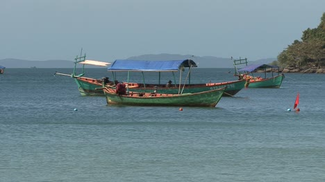 Cambodia-moored-boats