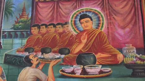 Cambodia-Buddhist-temple-painting