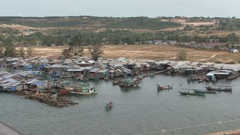 Cambodia-coastal-fishing-village
