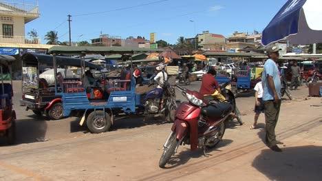 Cambodia-motorbike-parked