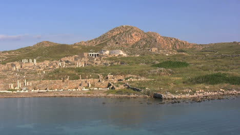 Delos-from-the-water-of-the-Aegean