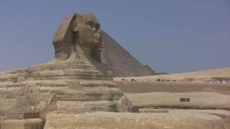 Egipto-Sphix-Y-Pirámide-En-Giza.