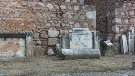 Greece-Delphi-Carved-marble-slab