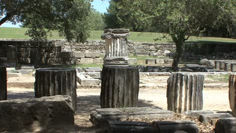 Greek-Antiquities-ruined-columns-at-Olympia