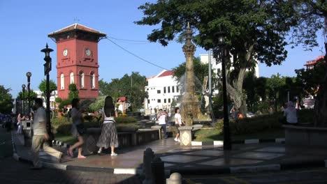 Malacca-Dutch-tower-with-fountain
