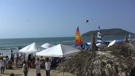 Mexico-Mazatlan-beach-with-umbrellas