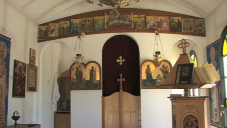 Interior-of-a-small-Greek-Orthodox-chapel