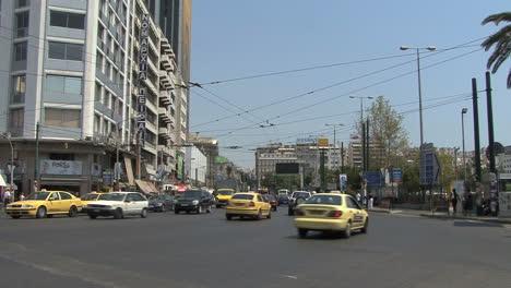 Piraeus-Greece-Traffic-at-an-intersection