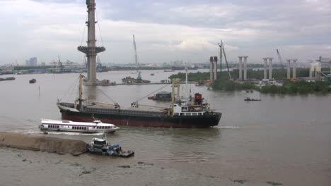 Ships-on-the-Saigon-River