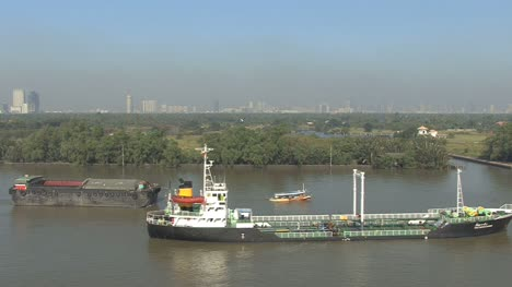 Ship-moored-in-the-Chao-Phraya-River