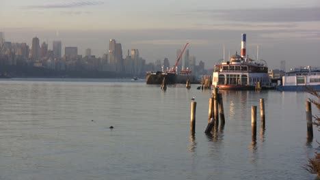 View-toward-Manhatten-with-pilings-and-boat