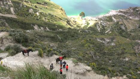 Ecuador-people-at-crater-lake