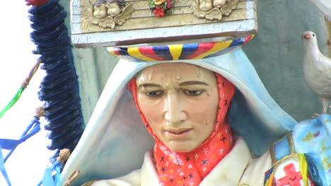 Face-of-statue-in-Latin-America