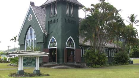 Kauai-Green-church-with-a-tower
