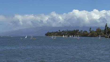 Windsurfers-and-Molokai-from-Maui