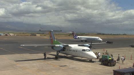 Maui-passengers-approach-plane-2