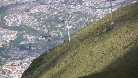 Quito-cable-car-on-mountain