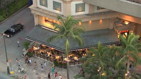 Waikiki-looking-down-at-cafe