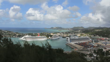 St-Lucia-Castries-with-cruise-ships