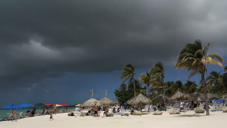 Aruba-beach-with-dark-cloud