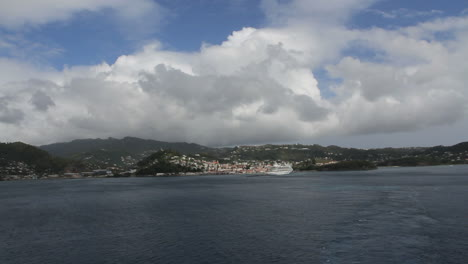Grenada-view-of-island-from-ship